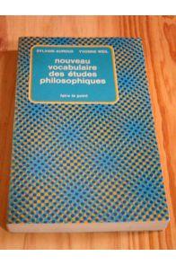 Nouveau vocabulaire des études philosophiques