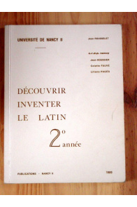 Découvrir inventer le latin 2eme année