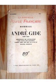 Hommage à André Gide 1869-1951. Textes inédits.
