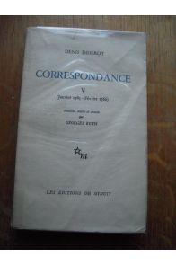Correspondance V (Janvier 1765, Février 1766)