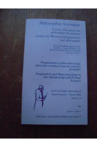 Philosophia scientiae, Travaux d'histoire et de philosophie des sciences 1996 Volume 1 cahier 2
