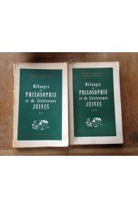 mélanges de philosophie et de littérature juives Tomes 1-2 et 3-4-5 (Deux volumes)