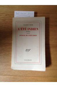 L'été Indien, poèmes suivis de Journal de l'Eté Indien