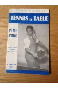 Règle officielle du tennis de table ou Ping Pong