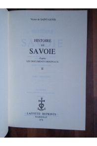 Histoire de Savoie (3 volumes complet)