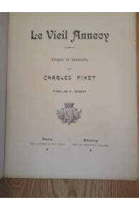 Le vieil Annecy Croquis et souvenirs