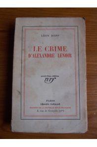 Le crime d'Alexandre Lenoir
