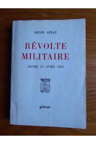 Révolte militaire Alger, 22 avril 1961