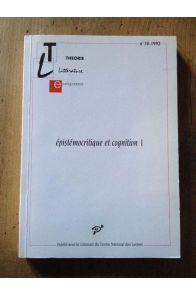 Revue Théorie littérature enseignement numéro 10 épistémocritique et cognition 1