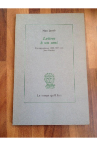 Lettres à un ami : Correspondance 1922-1937 avec Jean Grenier