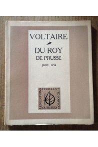 DU ROY DE PRUSSE - JUIN 1752