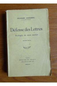 Défense des lettres