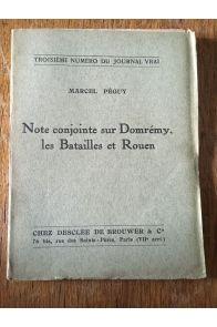 Note conjointe sur Domrémy les batailles et Rouen