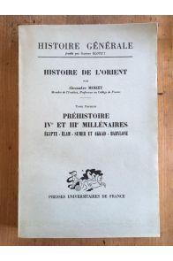 Histoire de l'orient Tome 1