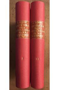 Souvenirs de la Révolution et de l'Empire complet en 2 volumes