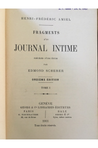 Fragments d'un journal intime (2 tomes)