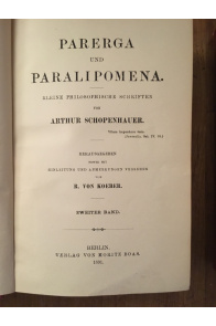 Parerga et Paralipomena, Kleine Philosophische Schriften