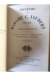 Souvenirs de madame C. Jaubert, lettres et correspondance