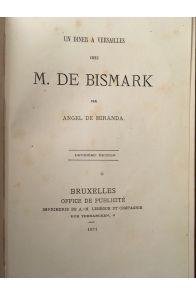 Un diner à Versailles chez M. de Bismark