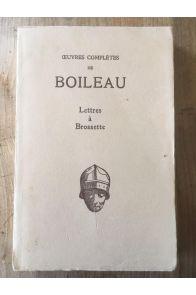 Oeuvres complètes, lettres à Brossette