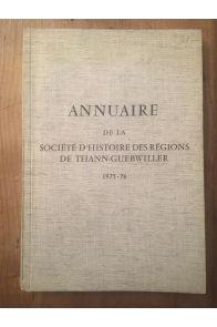 Annuaire de la société d'Histoire des régions de Thann Guebwiller 1975-1976