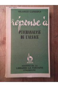 Réponse à Psychanalyse de l'Alsace