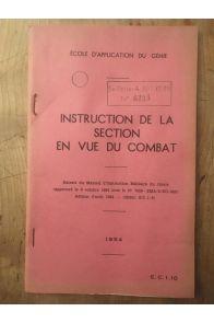 Instruction de la section en vue du combat