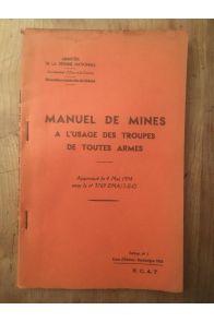 Manuel de mines à l'usage des troupes de toutes armes