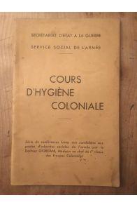 Cours d'Hygiène coloniale