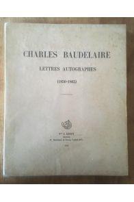 Lettres autographes (1850-1865)