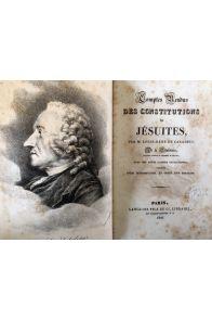 Comptes rendus des constitutions des Jésuites les 1er, 3, 4 et 5 décembre 1761