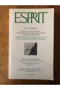 Revue Esprit Janvier 1995 Avec l'Algérie