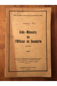 Aide-Mémoire de l'Officier de cavalerie