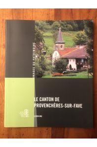 Le Canton de Provenchères-sur-Fave