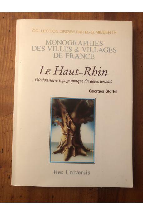 Le Haut-Rhin, dictionnaire topographique du département
