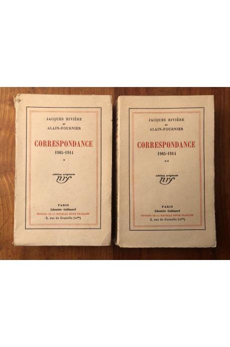 Correspondance de Jacques Rivière et Alain-Fournier (2 vol) Edition originale