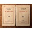 Correspondance de Jacques Rivière et Alain-Fournier 1905-1914 (2 vol) Edition originale