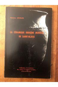 La céramique indigène modelée de Saint-Blaise