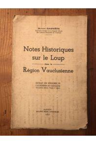Notes historiques sur le Loup dans la Région Vauclusienne